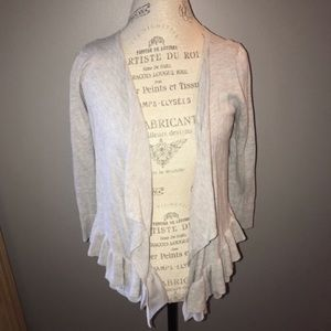 Grey AEO Frilly Cardigan Size M